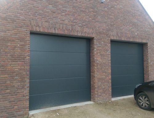 Plankenmotief dubbele garagedeur